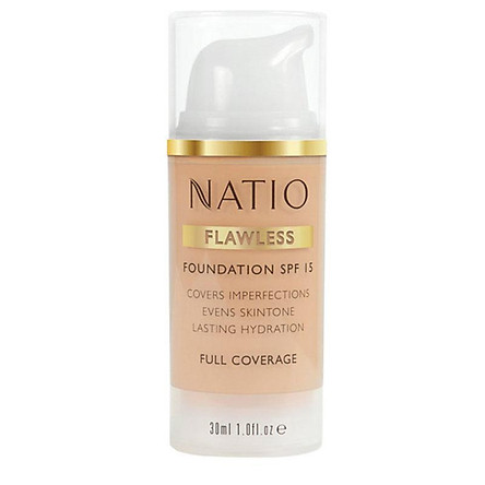 Natio Flawless Foundation SPF 15 Light Medium Online Only