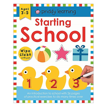 Priddy Learning : Starting School Workbook (Wipe Clean with Pen) (Age 3 - 5)