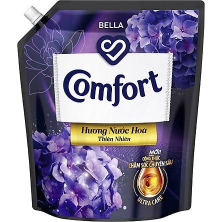 Nước xả làm mềm vải Comfort Chăm sóc Chuyên sâu Hương nước hoa thiên nhiên Bella túi 3.2L