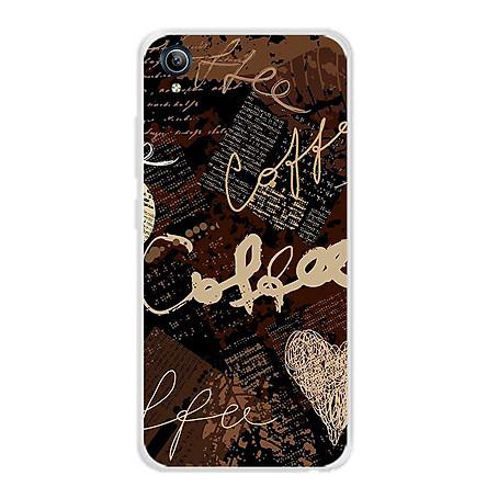 Ốp lưng dẻo cho điện thoại Vivo Y91C - 0073 COFFEE - Hàng Chính Hãng