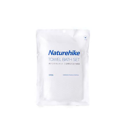 Khăn du lịch Cotton dùng nhiều lần Naturehike (Gói 3 Khăn (Gồm 1 khăn tắm 70x140cm, 2 khăn mặt 35x70cm)