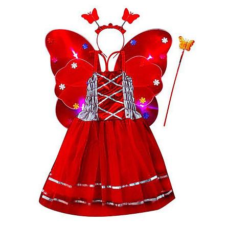 Bộ Váy Cánh Tiên Nữ D256 - Đỏ