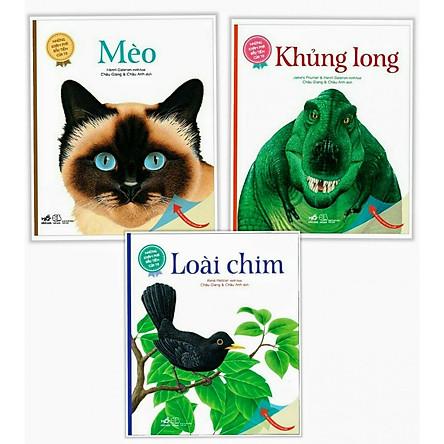 Combo 3 cuốn Những Khám Phá Đầu Tiên Của Tớ: Loài Chim + Mèo+ Khủng Long ( Tặng kèm bookmark thiết kế Phương Đông)