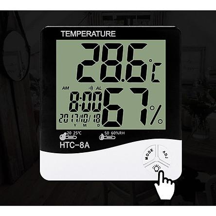 Máy đo nhiệt độ, độ ẩm - Tặng kèm 02 móc treo đồng hồ hoặc treo đồ