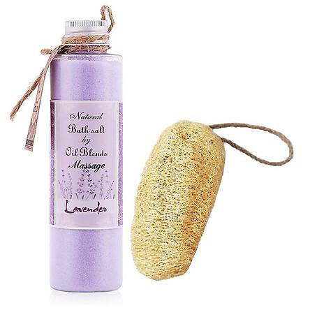 Muối massage oải hương tặng xơ mướp - Lavender Massage Salt (200g)