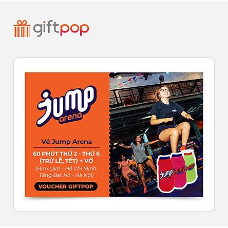 Giftpop - Vé Jump Arena 60' Trong Tuần + Vớ (Áp Dụng Tại JA Him Lam, JA Tăng Bạt Hổ)