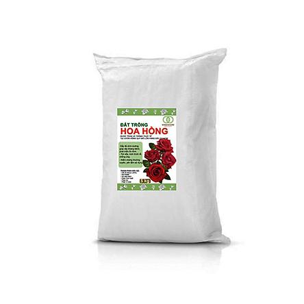 Đất trồng hoa hồng Greenhome- Giúp cây giữ ẩm, các chất dinh dưỡng, hoa hồng phát triển khỏe mạnh-5kg