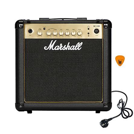 Ampli Marshall MG15R Gold (Công Suất 15W) Amply Đàn Guitar Điện Combo Amplifier MG15GR Hàng Chính Hãng - Kèm Móng Gẩy DreamMaker