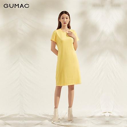 Đầm TC tay dơi DA1127 GUMAC chất cotton tôn dáng cực chuẩn
