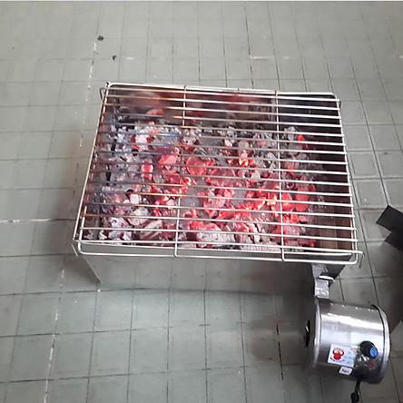 Bếp nướng than hoa có quạt gió vuông