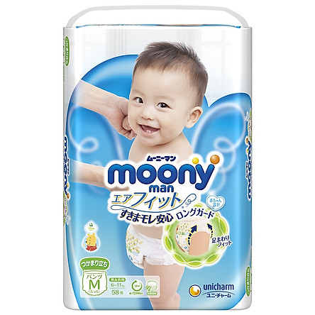 Combo 2 gói tã quần Moony cao cấp tặng cún bông đáng yêu và đồ chơi Toys House