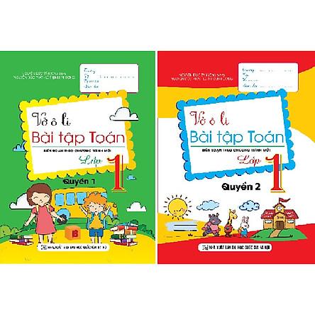 Vở ô li bài tập Toán lớp 1 Quyển 1 & 2 (Biên soạn theo chương trình mới)