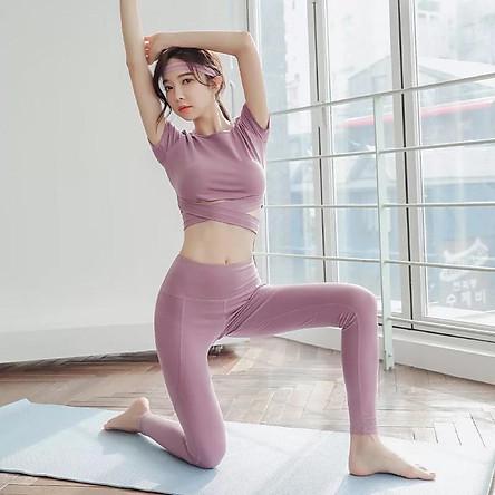 (SIÊU HOT)Bộ tập GYM dài tay quai chéo bụng sang chảnh – Bộ quần áo tập GYM-YOGA cao cấp hot nhất 2021