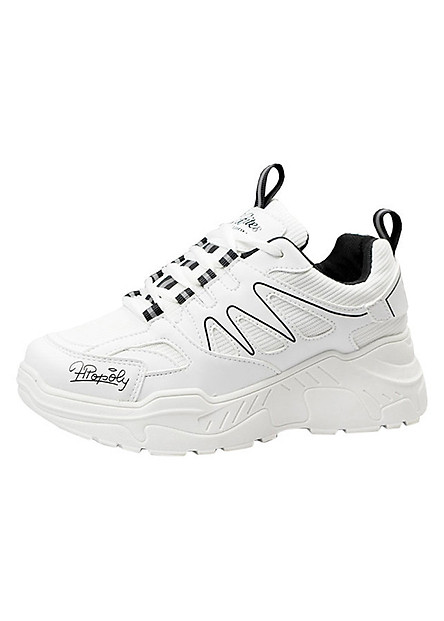Giày Sneaker Nữ Vạch Sóng Đế Cao Hapu
