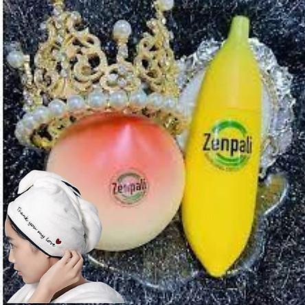 Combo thải độc, dưỡng da sáng trắng gồm Chuối Zenpali và Kem cao cấp Đào Hồng Phấn Zenpali, Tặng kèm khăn ủ tóc cực xinh