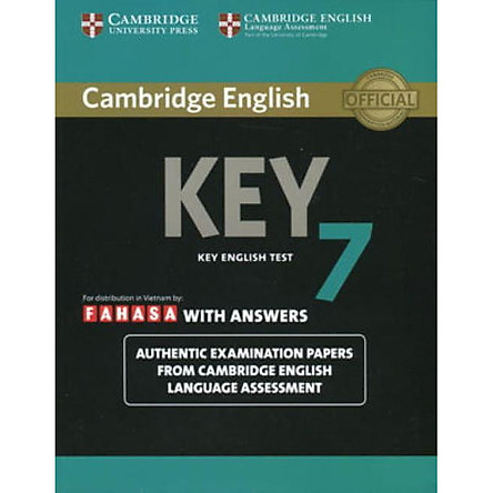 Cambridge English KEY - Key English Test 7 with Answers