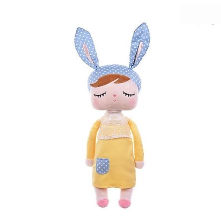 Búp bê thỏ bông kiểu mặc váy nhắm mắt