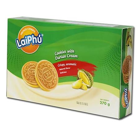 Bánh cookie Lai Phú kem Sầu Riêng 270g