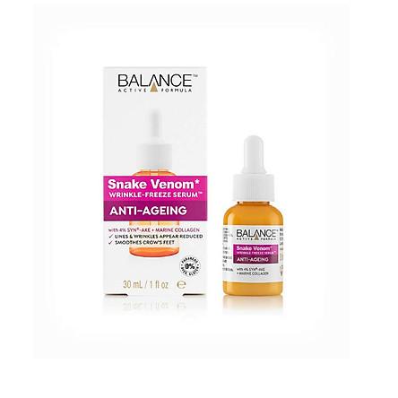 Serum Nọc Rắn Balance Active Formula Snake Venom Wrinkle Freeze 30ml, chống lão hóa, giảm nếp nhăn, căng da, hàng chính hãng
