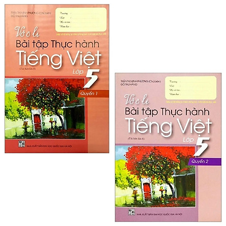 Combo Vở Ô Li Bài Tập Thực Hành Tiếng Việt Lớp 5: Quyển 1 + 2 (Bộ 2 Quyển)