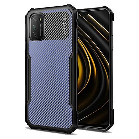 Ốp lưng cho Xiaomi Poco M3 Rzants Carbon - Hàng nhập khẩu