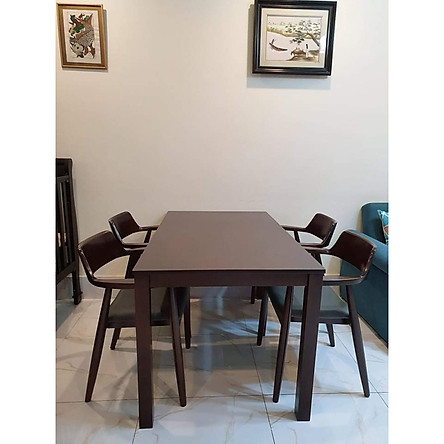 bộ bàn ăn 4 ghế hiroxima