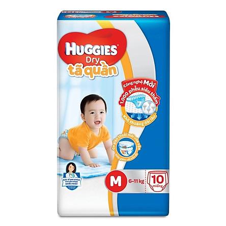 Tã/bỉm quần Huggies Dry M10 (10 miếng - cho bé 6-11kg)
