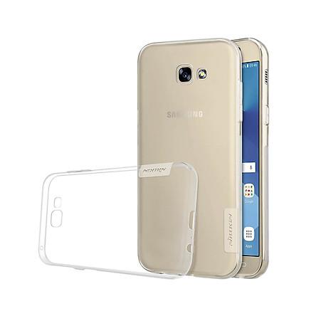 Ốp lưng dẻo cho Samsung Galaxy A3 2017 hiệu Nillkin mỏng 0.6mm, chống trầy xước - Hàng chính hãng
