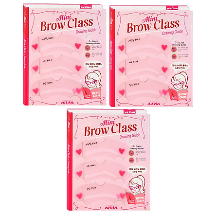 Combo 3 bộ khuôn kẻ lông mày Mini Brow Class Drawing Guide