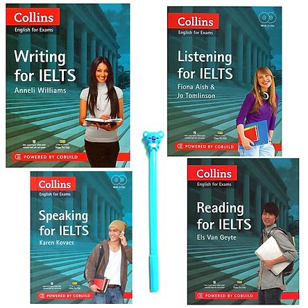 Combo Collins English For Exams :  Reading, Writing, Listening, Speaking For IELTS (Kèm 2 CD) ( Tặng Kèm Bút )