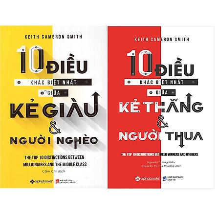 Bộ Sách Giải Mã Bí Mật Của Sự Thành Công ( 10 Điều Khác Biệt Nhất Giữa Kẻ Giàu Và Người Nghèo + 10 Điều Khác Biệt Nhất Giữa Kẻ Thắng Và Người Thua ) tặng kèm bookmark Sáng Tạo