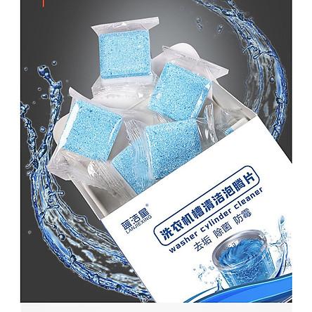 COMBO 2 Hộp Viên Tẩy Lồng Máy Giặt Khử Sạch Cặn Bẩn tặng kèm 1 chai xịt tẩy rửa đa năng  Kitchen Cleaner