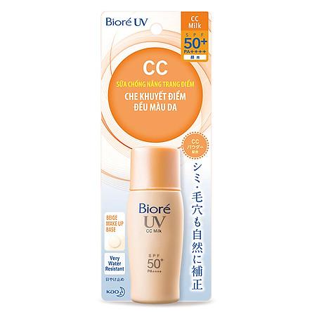 Sữa Chống Nắng CC - Che Khuyết Điểm & Đều Màu Da Biore (30ml)