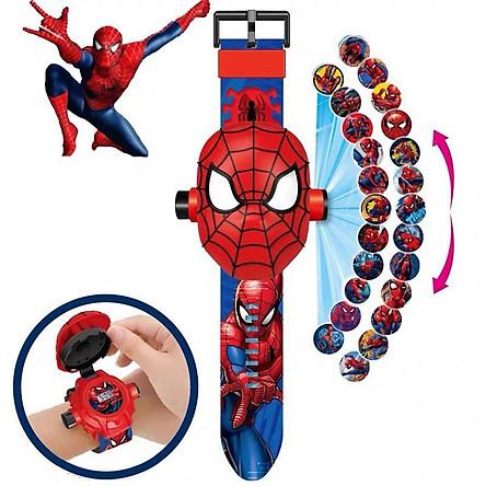 Đồng hồ cho bé hình người nhện elsa, batman, đội cứu hộ, ninja chiếu hình ảnh lên tường người nhện