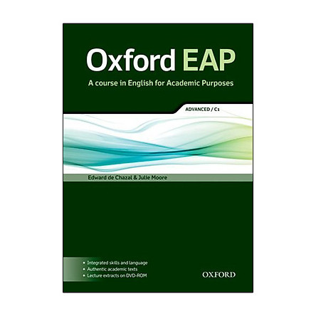 Oxford Eap A Course In English For Academic Purposes: Advanced C1 (Oxford Eap Series)