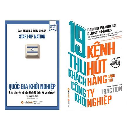 Combo Sách Kỹ Năng Kinh Doanh Khởi Nghiệp: 19 Kênh Thu Hút Khách Hàng Dành Cho Công Ty Khởi Nghiệp + Quốc Gia Khởi Nghiệp