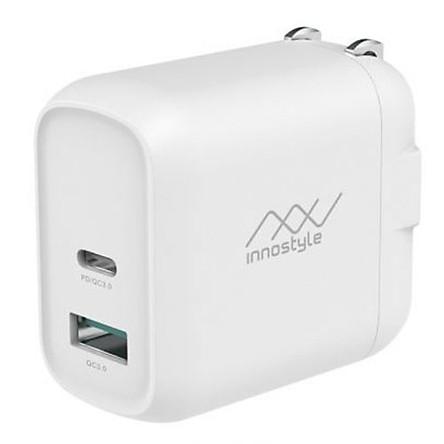 Adapter Sạc 2 Cổng 18W Innostyle Minigo Pro Dual Tích Hợp Cổng USB Type-C Hỗ Trợ Sạc Nhanh PD Power Delivery và Quick Charge QC 3.0 - Hàng Chính Hãng