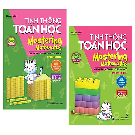 Combo Tinh Thông Toán Học Mastering Mathematics - Work Book - Quyển A Và B (Dành Cho Trẻ 8 - 9 Tuổi) (Bộ 2 Quyển)