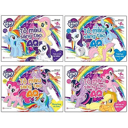 Bộ Sách My Little Pony - Tô Màu Sáng Tạo 4Q (Bộ 4 Cuốn)
