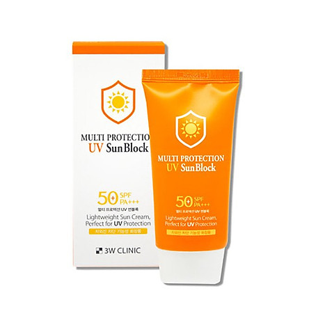 Kem Chống Nắng 3W Clinic Multi Protection UV Sun Block SPF 50+ PA+++ 70ml |  Tiki