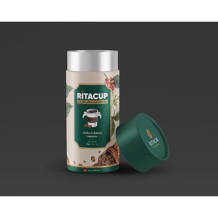 Cà phê phin giấy tiện lợi RITACUP - Lon 6 phin cafe giấy sử dụng 1 lần - RITACHI COFFEE