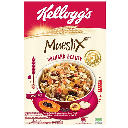 [Chỉ Giao HCM] - Big C - Bánh ăn sáng Kellogg's Mueslix hộp giấy 375g- 03230