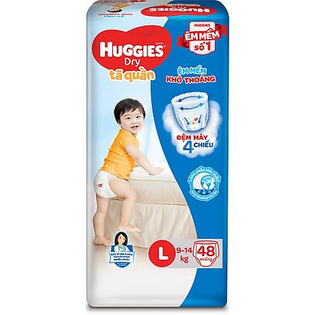Tã Quần Huggies Dry Gói Đại L48 (48 Miếng)