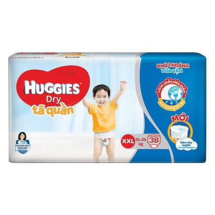 Tã Quần Huggies Dry Gói Đại XXL38 (38 Miếng) - Bao Bì Mới