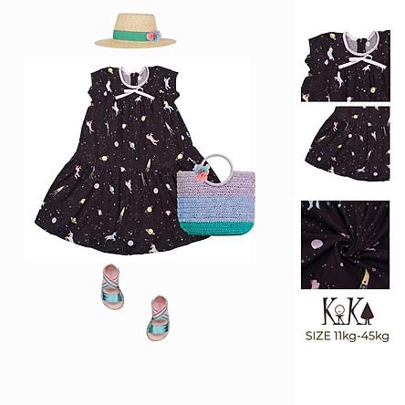 Váy đầm thun bé gái dễ thương - Size 11-45kg - K134