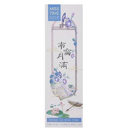 Hộp 30 Bookmark Đánh Dấu Sách Phong Cảnh Cổ Trang (4 x 15 cm)