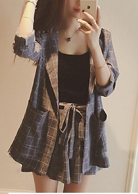 Bộ quần áo vest nữ kèm áo hai dây sang chảnh đủ size