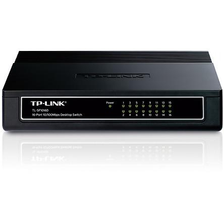 TP-Link TL-SF1016D - Switch Chia Tín Hiệu Để Bàn 16 Cổng 10/100Mbps (Đen)-Hàng Chính Hãng