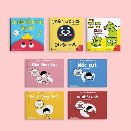 Combo 7 cuốn sách Ehon Điều kỳ diệu của hình khối và Taku - Cậu bé mộng mơ