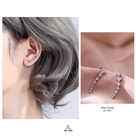 Bông tai nữ Miuu Silver, khuyên tai bạc đính đá kẹp vành tai Galaxy Earrings